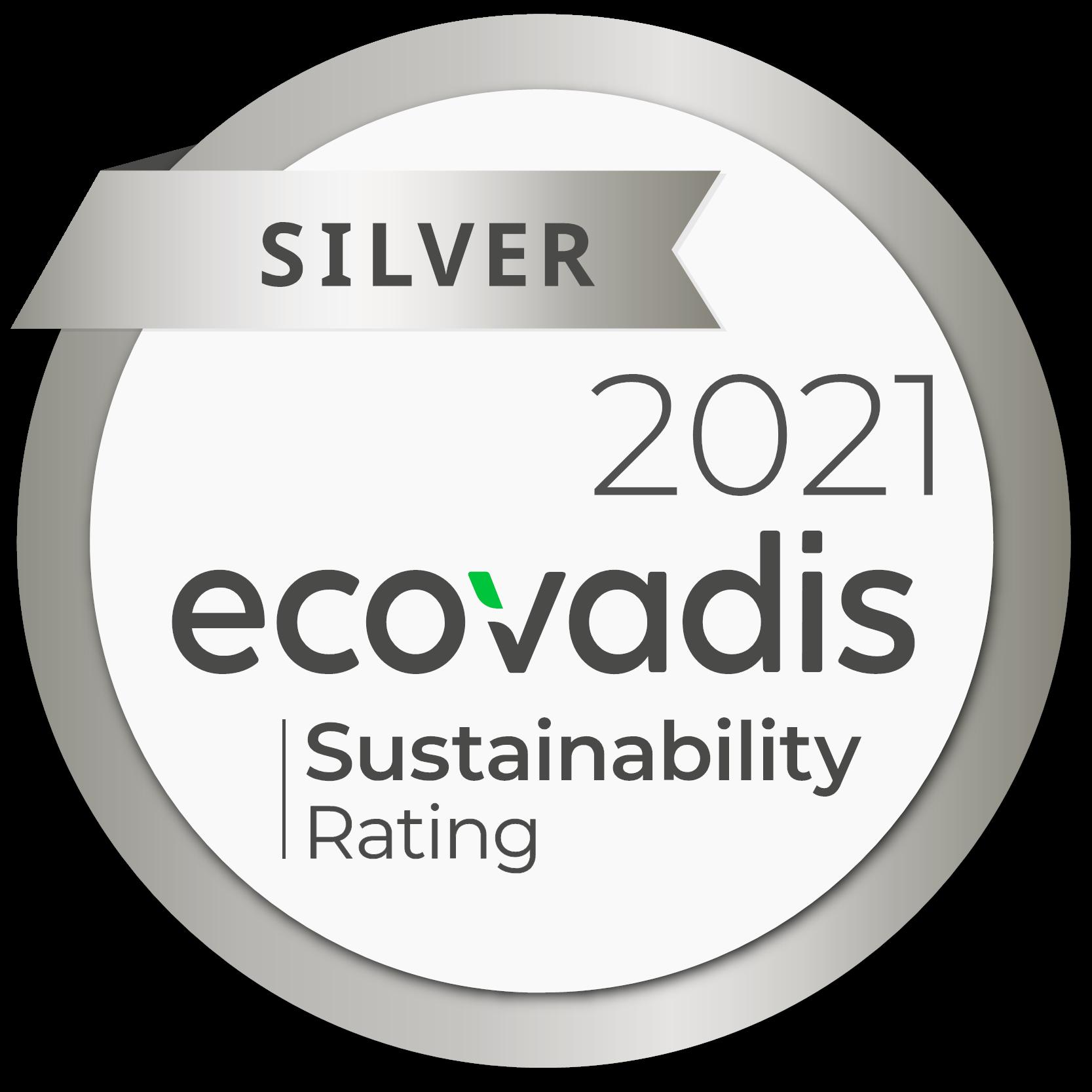 ecovadis silver 2021 label